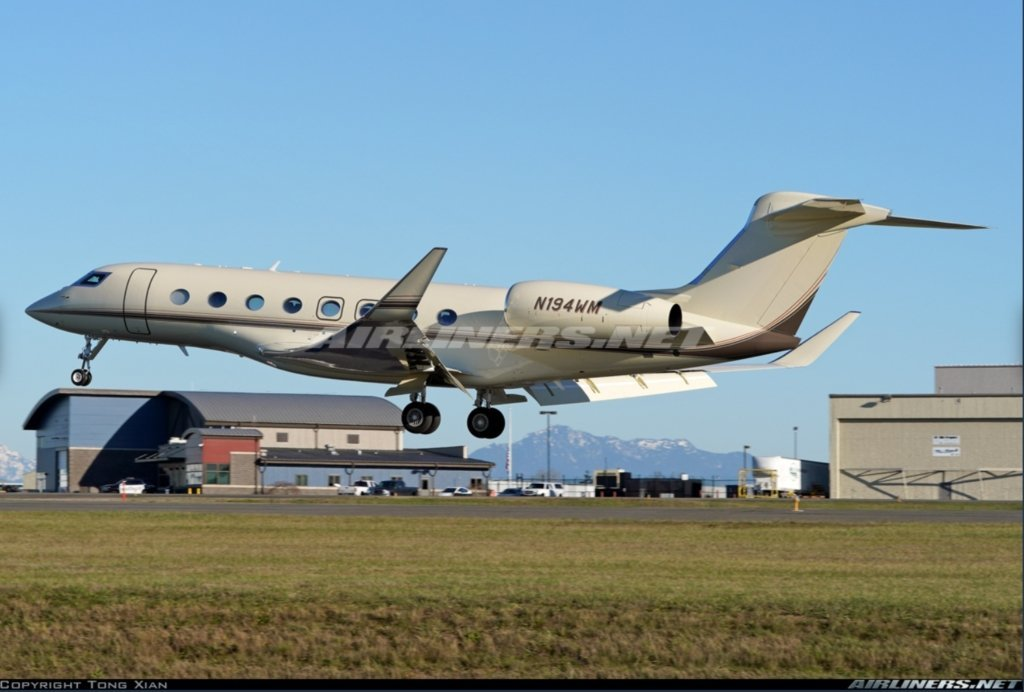 N194WM Gulfstream G650 - Bill Gates Private Jet