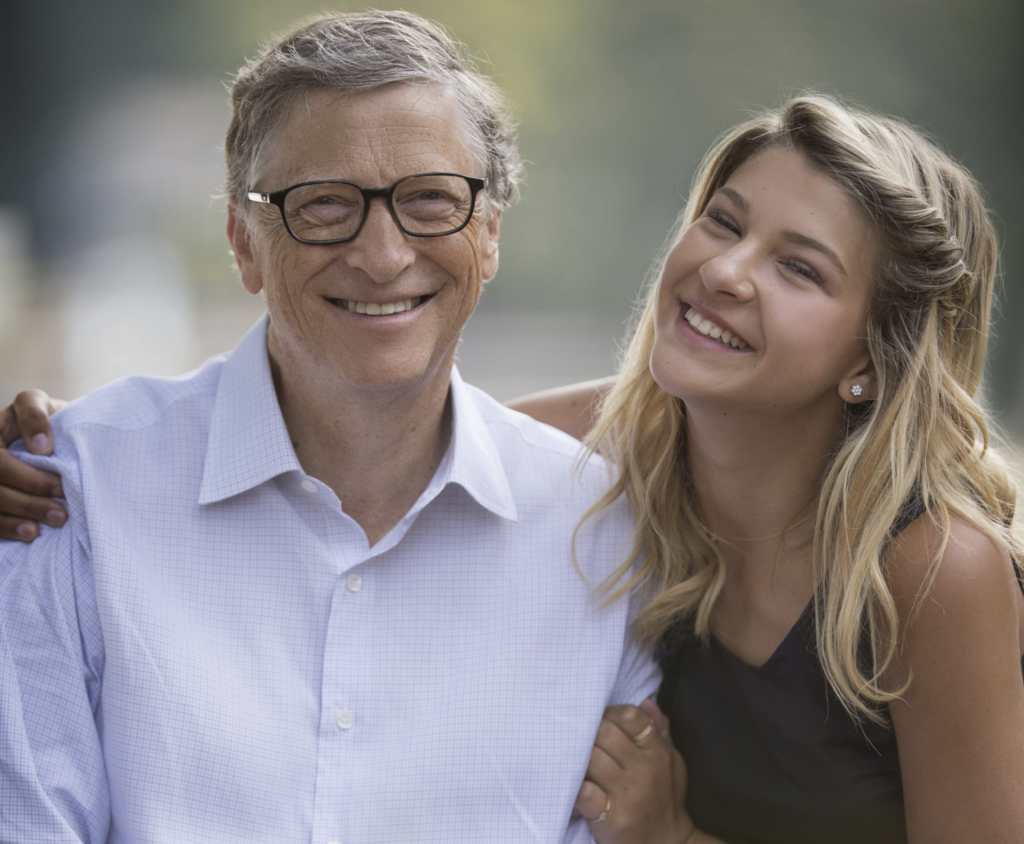 Bill Gates and his Daughter