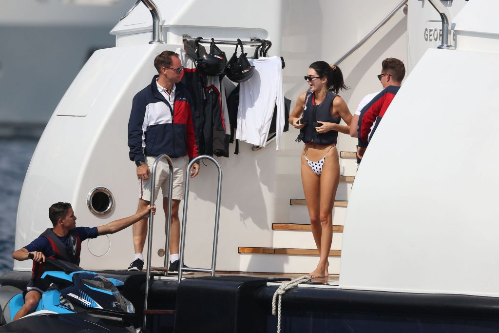 Kendal Jenner on the yacht Flag