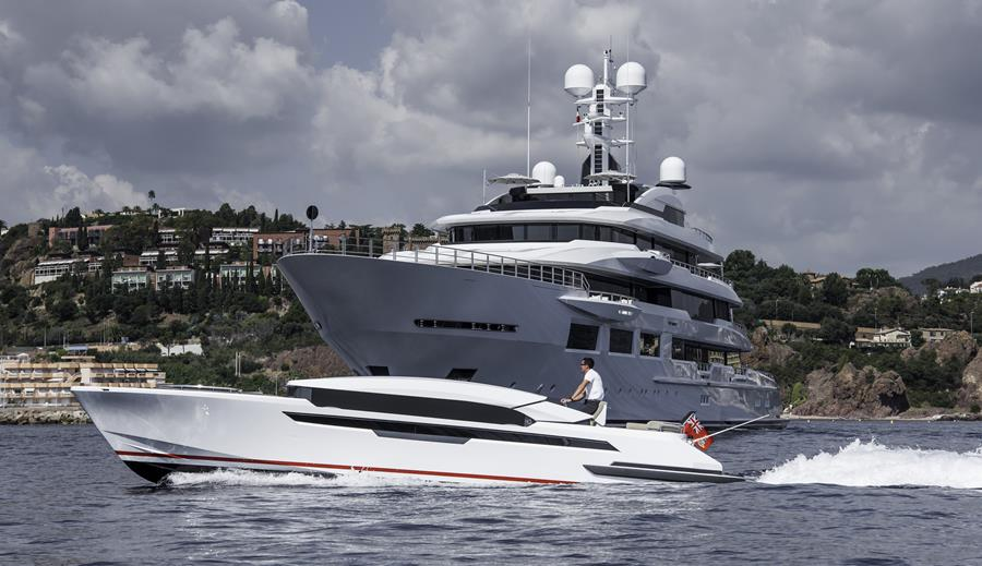 Oceanco-yacht-DREAMBOAT-with-her-tender