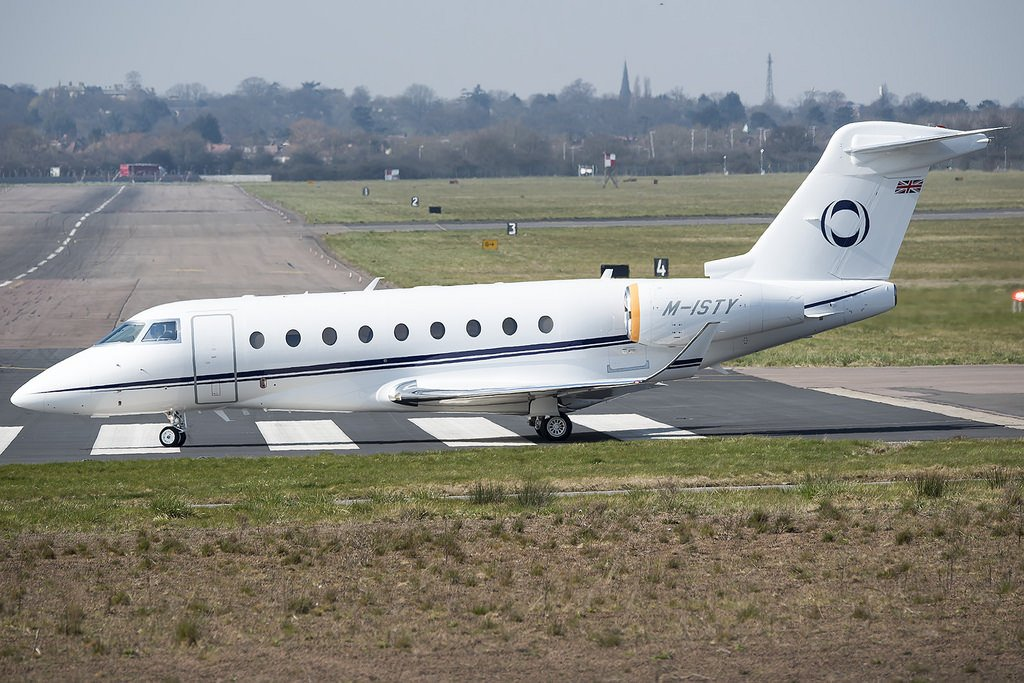M-ISTY G280 Ineos private jet