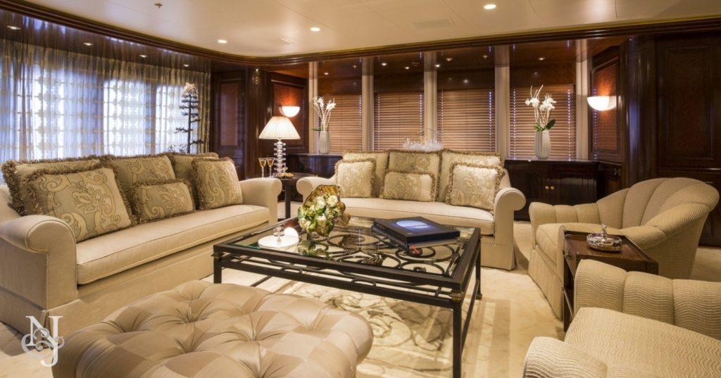 yacht Blue Moon interior