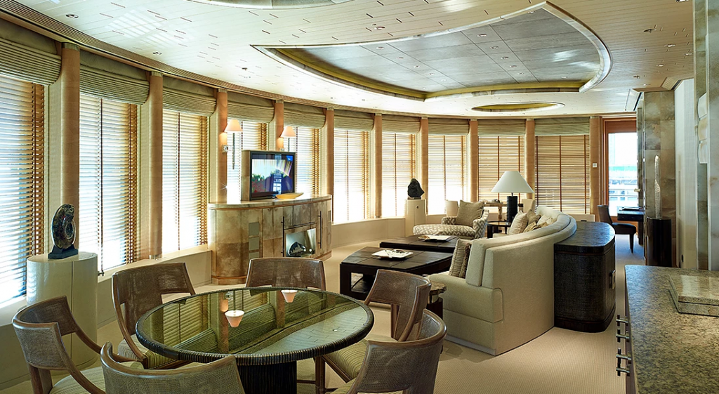 yacht Eclipse interior