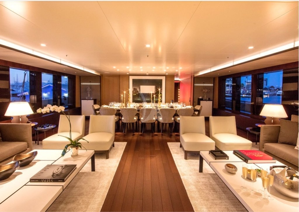 yacht Halo interior