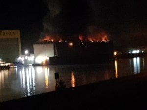 Yacht Sassi project fire