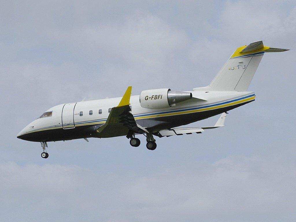 G-FBFI Canadair Flavio Briatore private jet