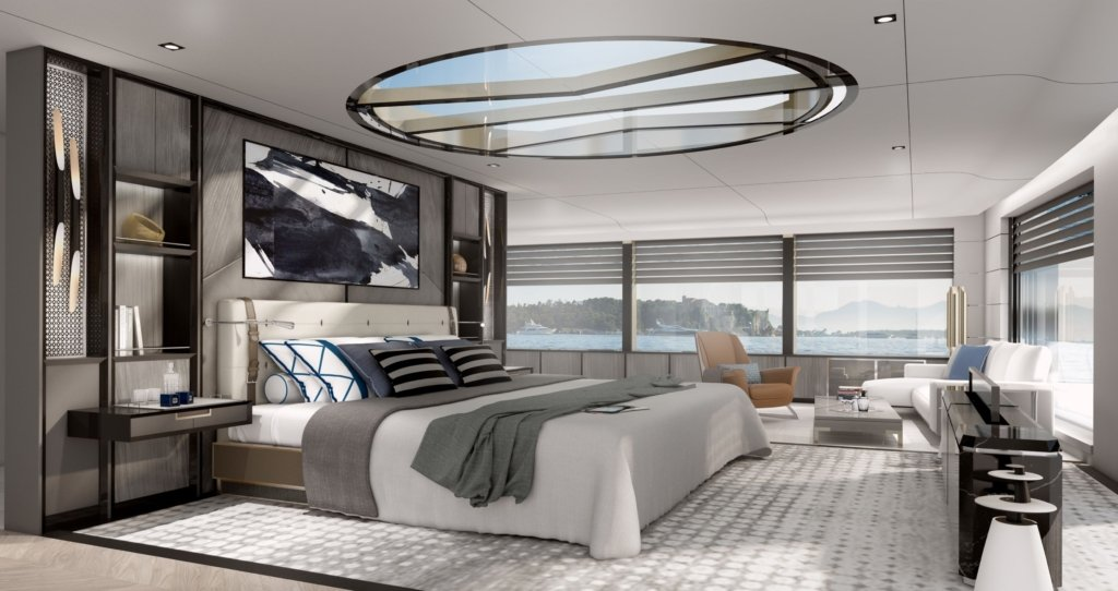 March and White yacht interior design