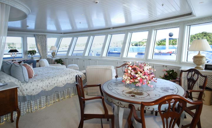yacht Northern Star interior