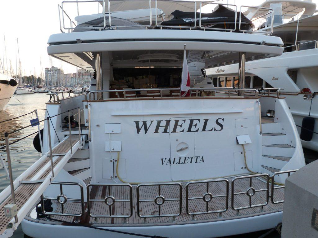 Trinity yacht Wheels - Rick Hendrick