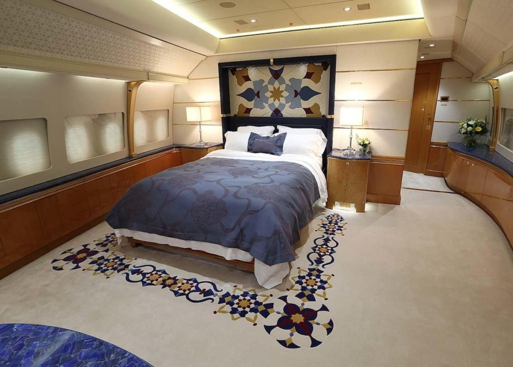 VQ-BSK B747 interior Qatar Royal Family