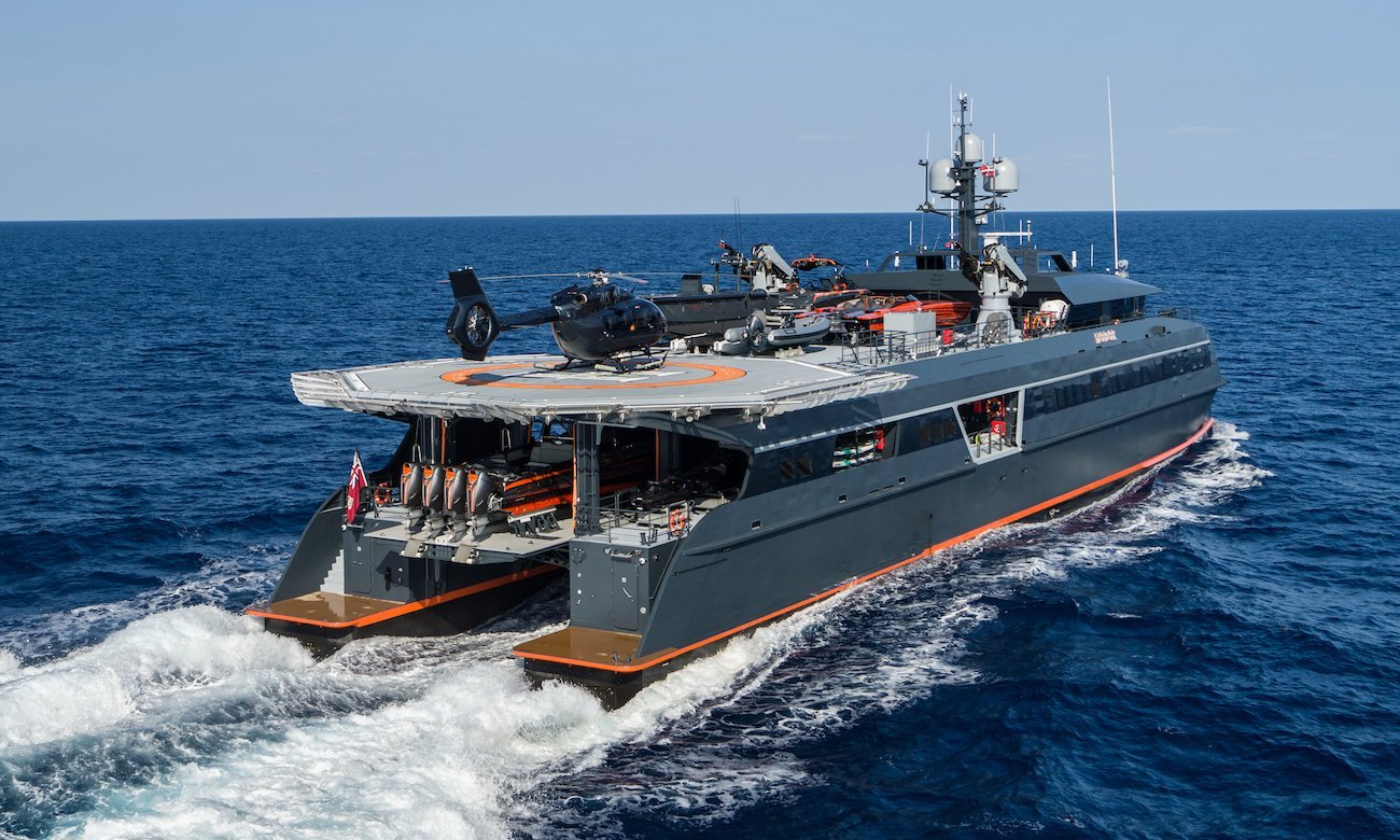 yacht Hodor (support vessel to Lonian) - Lorenzo Fertitta