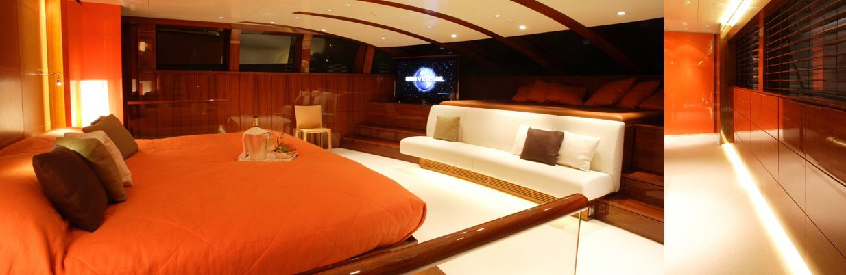 yacht Dragonfly interior