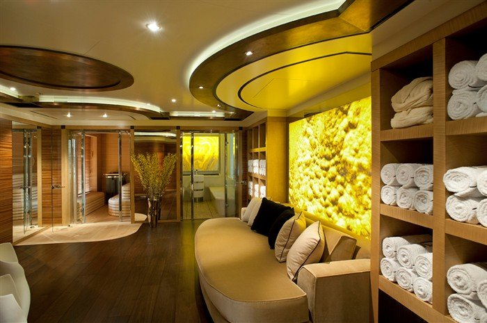 yacht Palladium interior