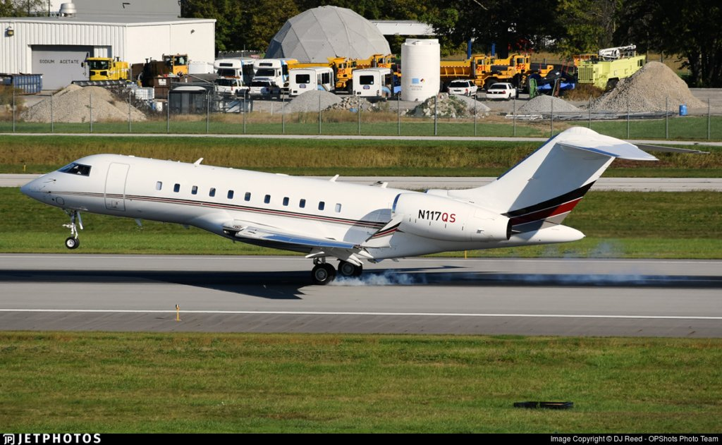 N117QS Global 5000 Larry Silverstein