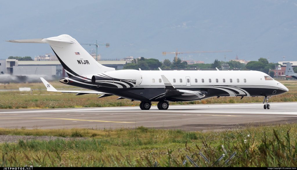 N1JR Global 6000 John Rosatti private jet