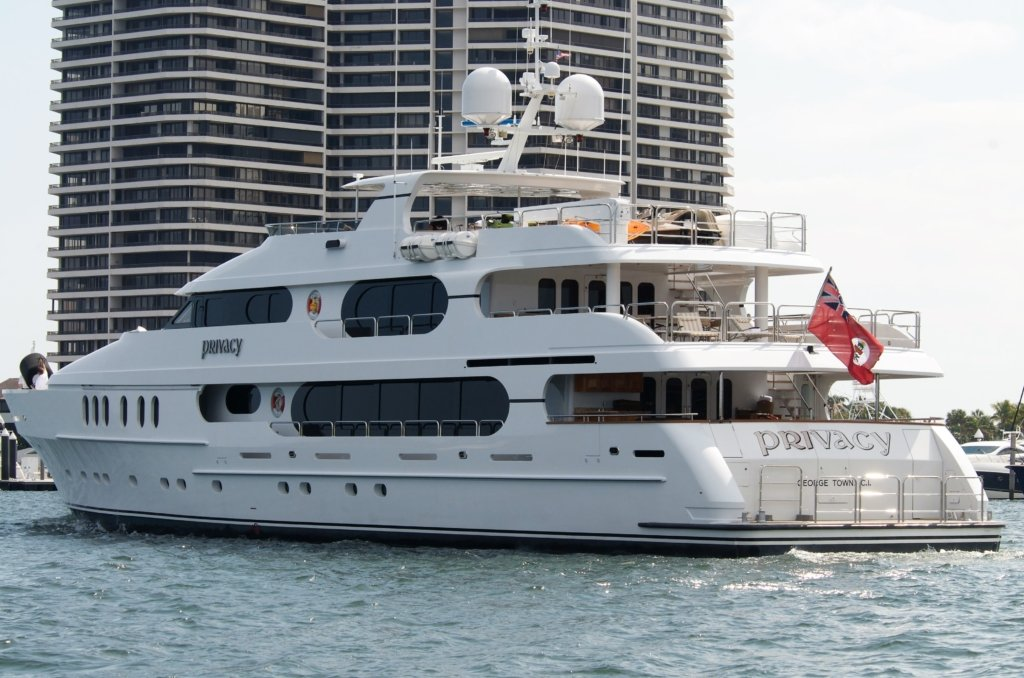 Tiger Woods yacht Privacy