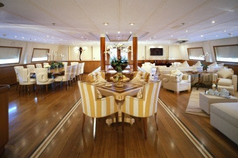 sailing yacht M5 interior