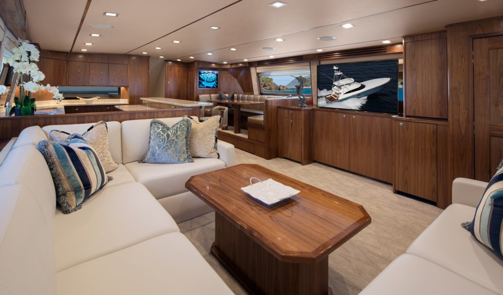 Michael Jordan yacht Catch 23 interior
