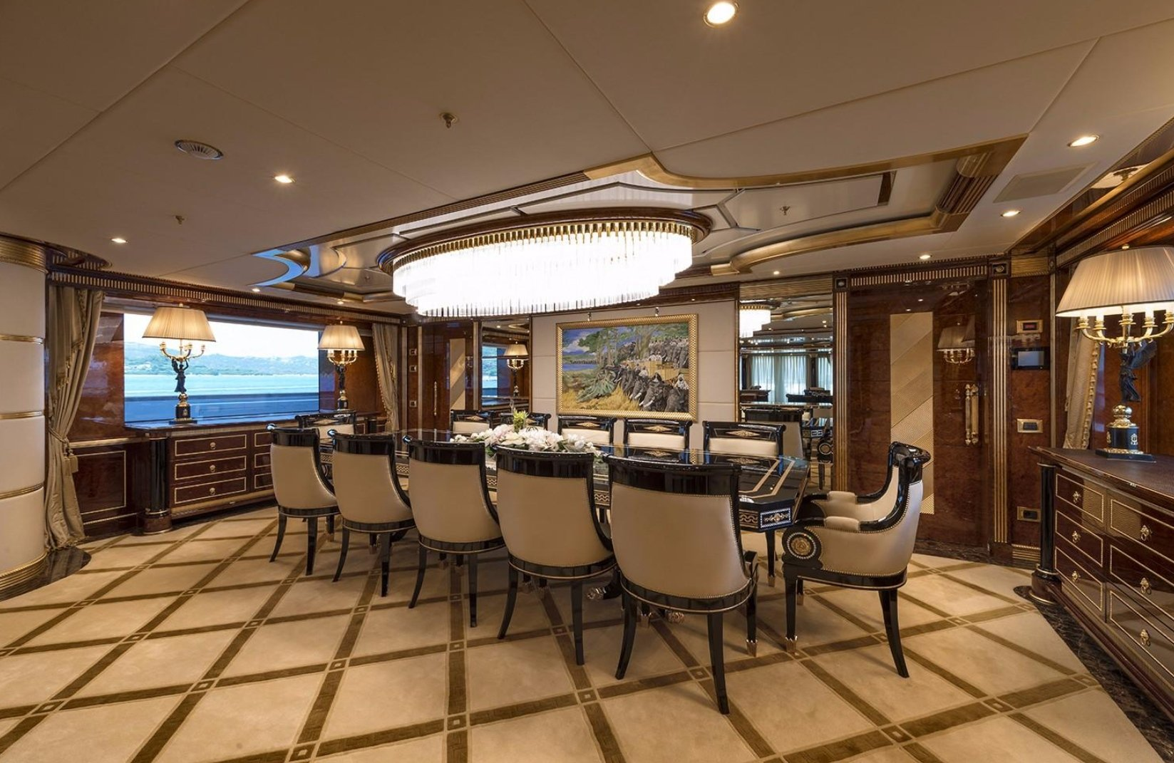 yacht Lumiere interior