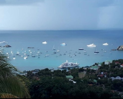 yachts in St Barts - New Years Eve - 2020