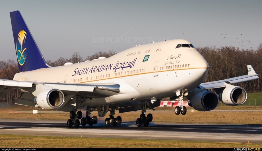 HZ-HM1 B747 Kingdom of Saudi Arabia Royal Flight
