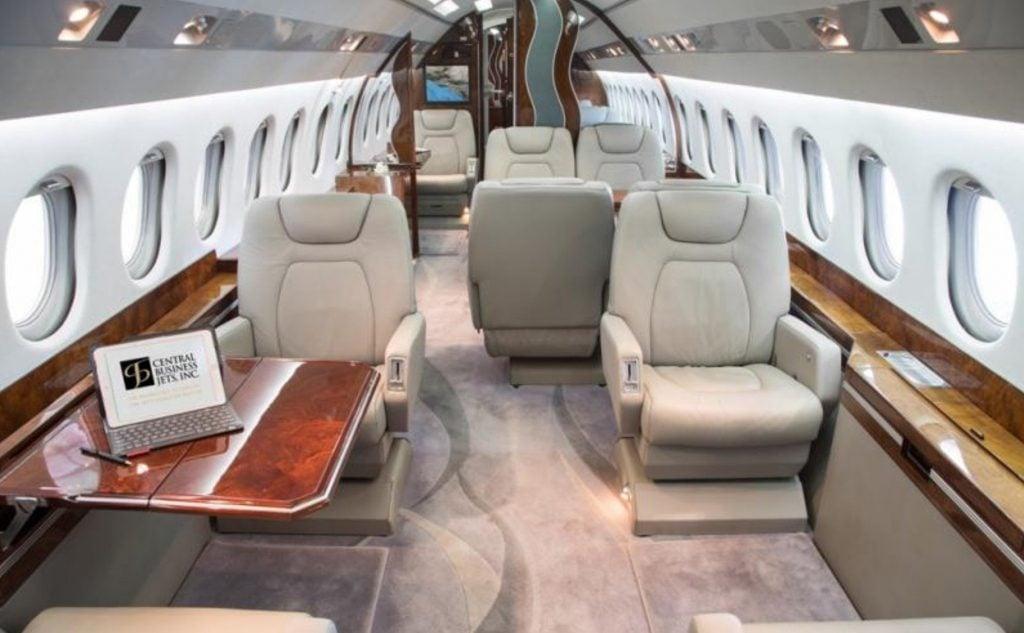 N628T G650 interior (Elon Musk)