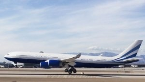 VP-BMS Airbus A340 Adelson