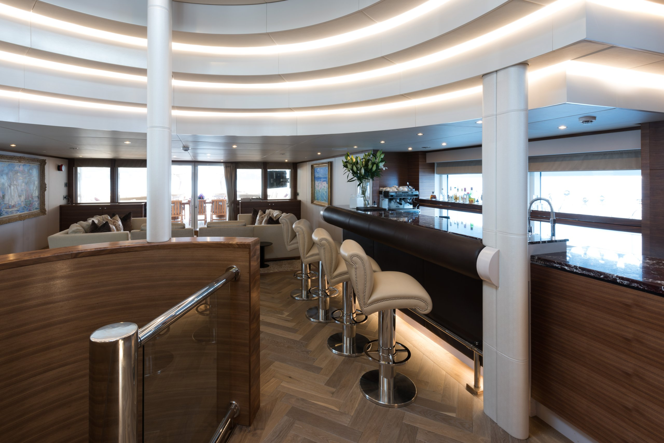 yacht Lady A interior
