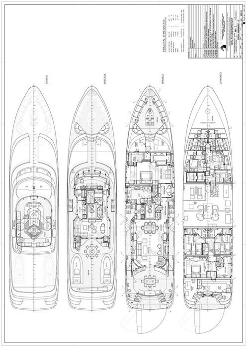yacht Lady Charlotte – Lady India – General Arrangement