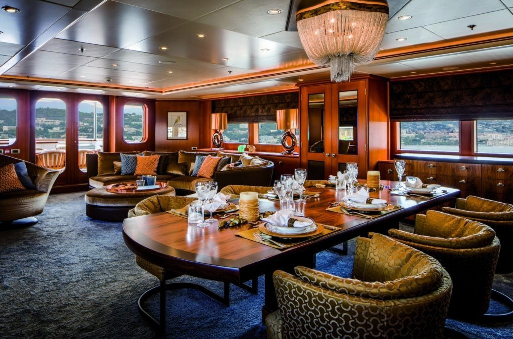 yacht Lady Charlotte interior