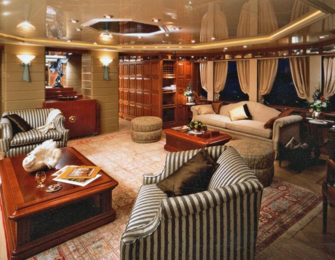 yacht lady M II interior
