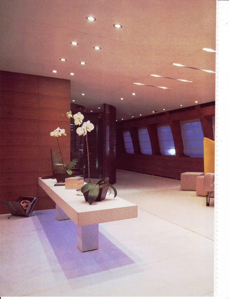 yacht Blue Ice interior