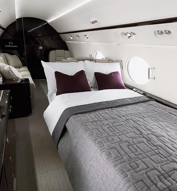 Gulfstream G550 – sleeping area