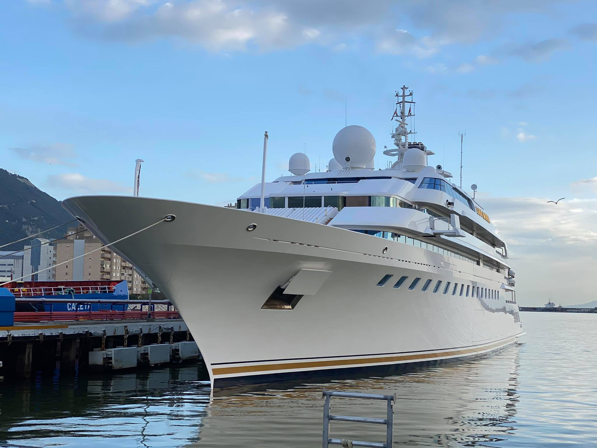 yacht Lady Moura in Gibraltar