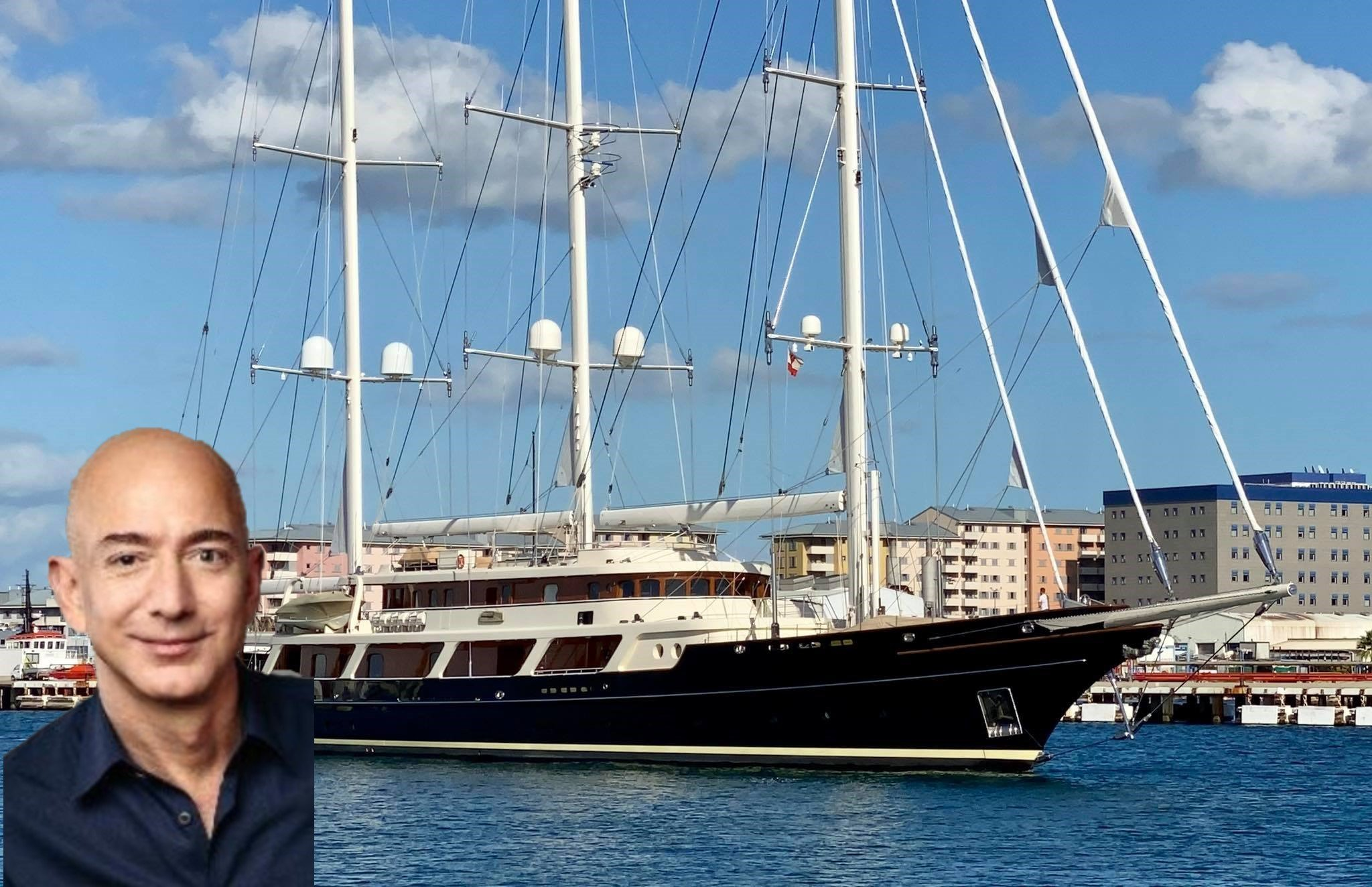Jeff Bezos - richest yacht owner - sailing yacht Y721