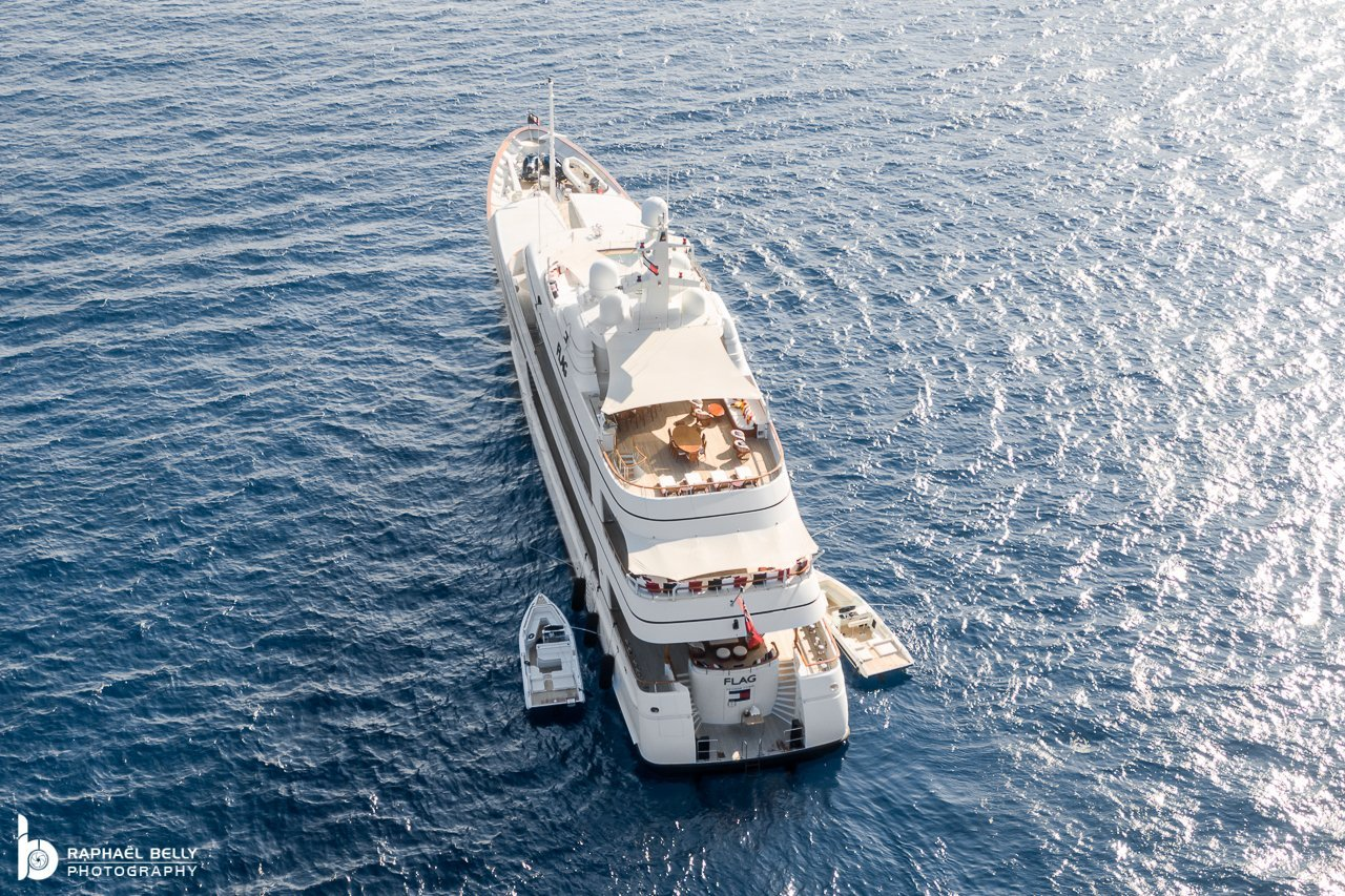FLAG Yacht • Feadship • 2000 • Value $45M • Owner Tommy Hilfiger